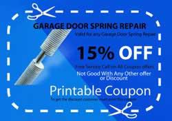 garage door broken spring repair